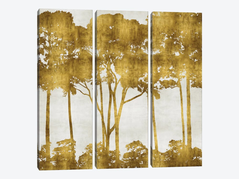 Tree Lined In Gold I by Kate Bennett 3-piece Canvas Wall Art