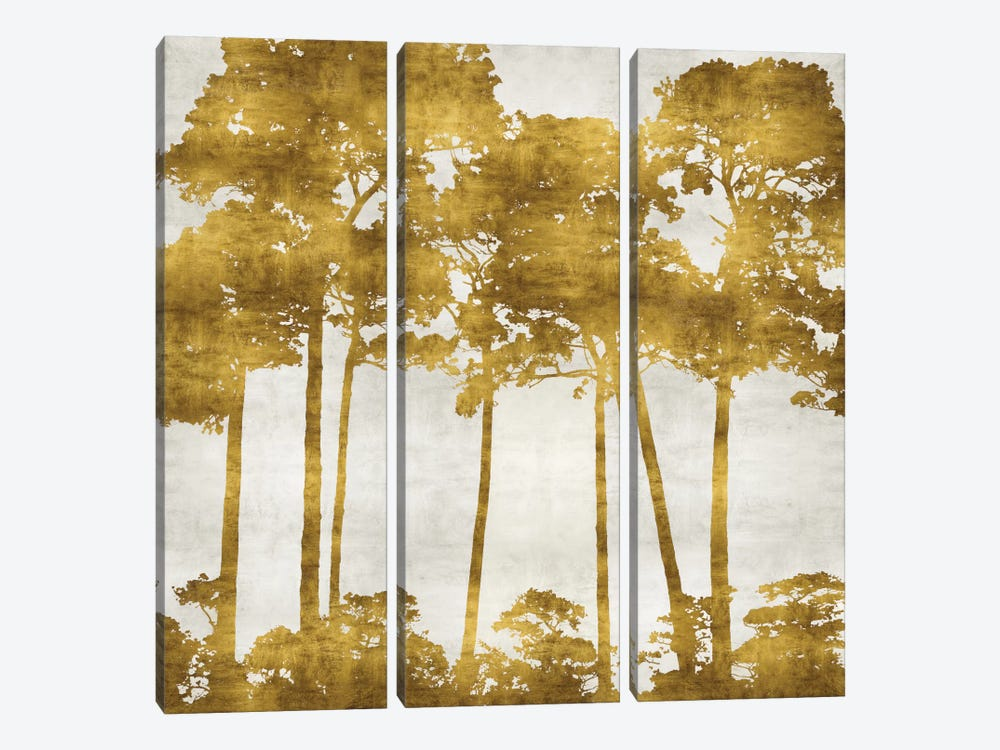 Tree Lined In Gold II by Kate Bennett 3-piece Art Print