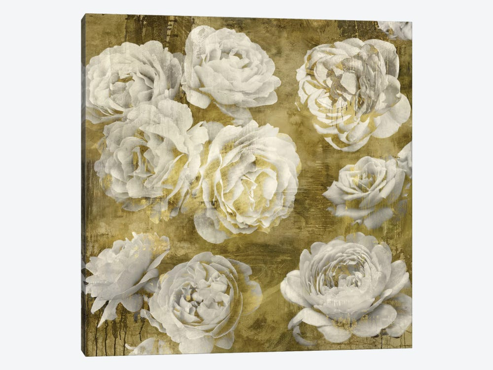White In Gold by Kate Bennett 1-piece Canvas Art