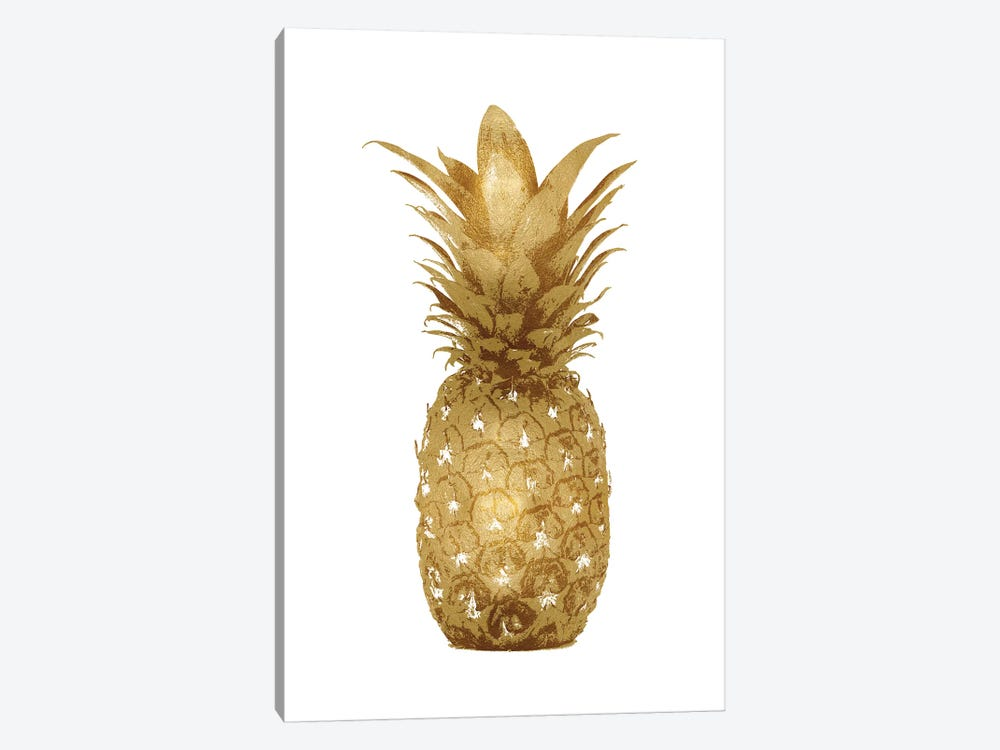 Gold Pineapple On White I by Kate Bennett 1-piece Canvas Art Print