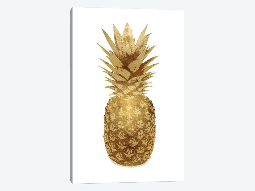 Gold Pineapple On White II by Kate Bennett 1-piece Canvas Art