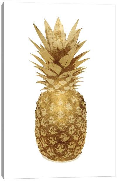 Gold Pineapple On White II Canvas Art Print