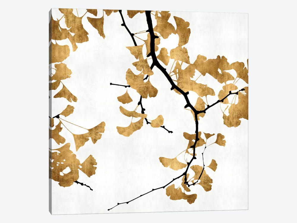 Ginkgo In Gold II by Kate Bennett 1-piece Canvas Art Print