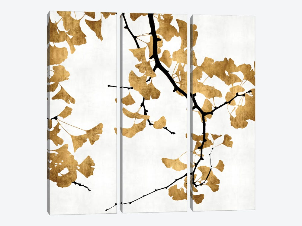 Ginkgo In Gold II by Kate Bennett 3-piece Art Print