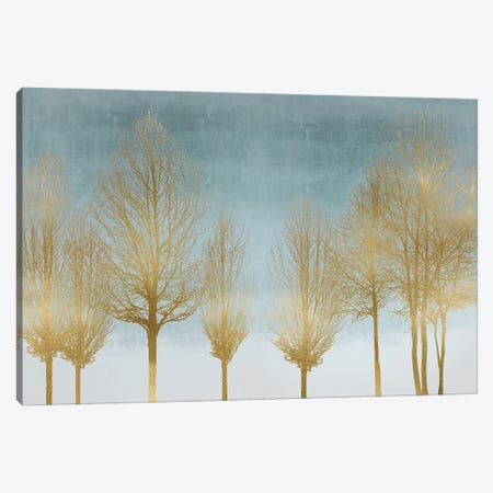Gold Forest On Aqua Canvas Print #KAB59} by Kate Bennett Canvas Wall Art