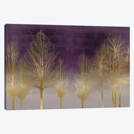 Gold Forest On Purple Canvas Print #KAB65} by Kate Bennett Canvas Wall Art