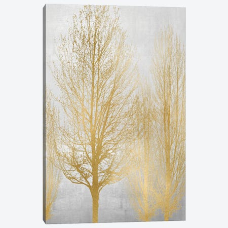 Gold Tree Panel I Canvas Print #KAB67} by Kate Bennett Canvas Art