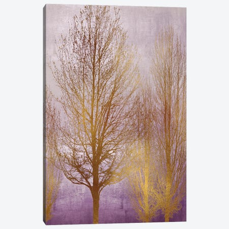 Gold Trees On Purple Panel I Canvas Print #KAB79} by Kate Bennett Canvas Art