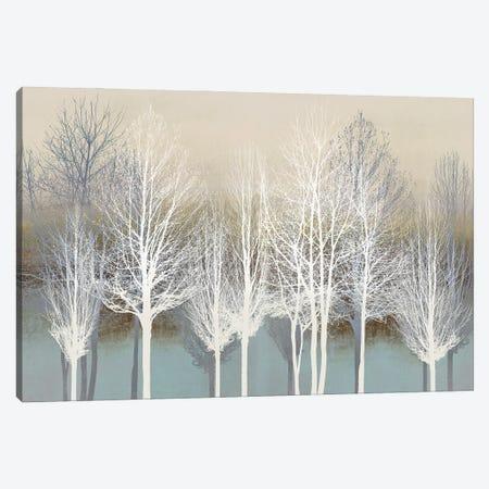 Trees On Aqua Canvas Print #KAB84} by Kate Bennett Canvas Art