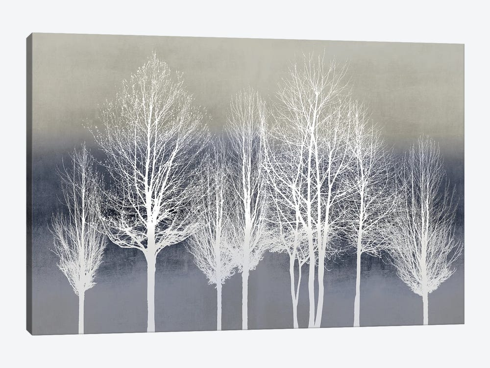 Trees On Blue by Kate Bennett 1-piece Canvas Artwork