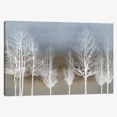 Trees On Brown And Blue Canvas Print #KAB86} by Kate Bennett Canvas Artwork