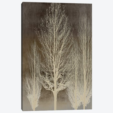 Trees On Brown Panel II Canvas Print #KAB88} by Kate Bennett Canvas Print