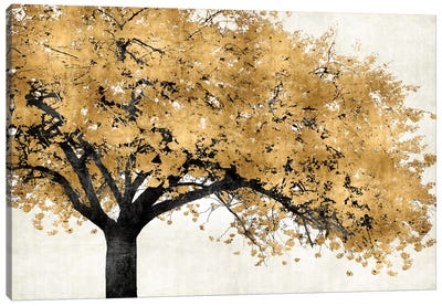 Golden Blossoms Canvas Art Print