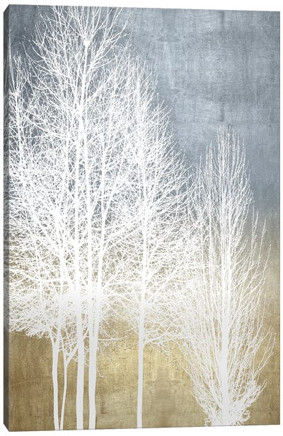 Trees On Gold Panel I Canvas Art Print