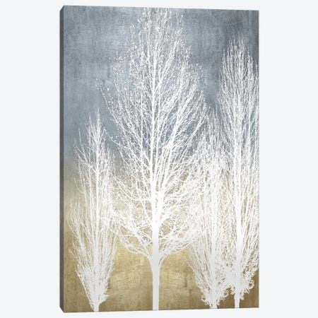 Trees On Gold Panel II Canvas Print #KAB91} by Kate Bennett Canvas Art