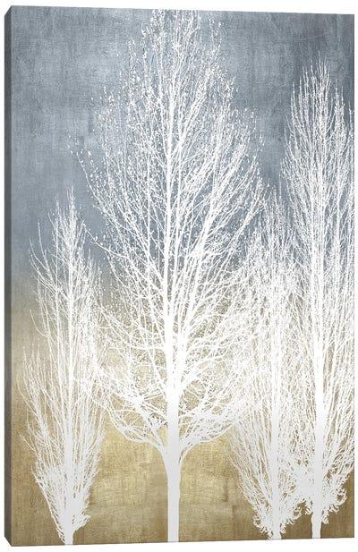 Trees On Gold Panel II Canvas Art Print