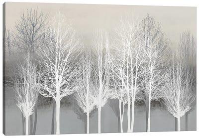 Trees On Gray Canvas Art Print
