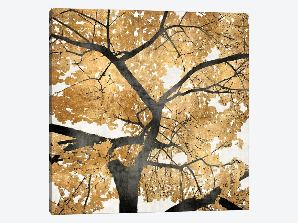 Golden Leaves Canvas Wall Art by Kate Bennett | iCanvas