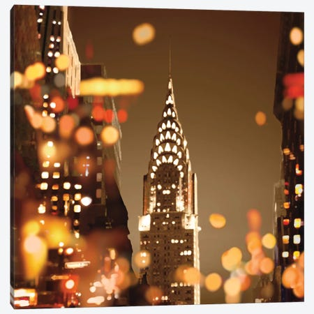 City Lights-New York Canvas Print #KAC11} by Kate Carrigan Art Print