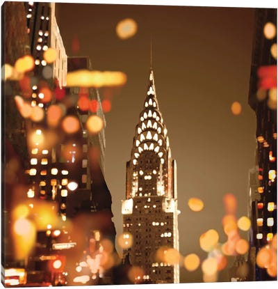 City Lights-New York Canvas Art Print