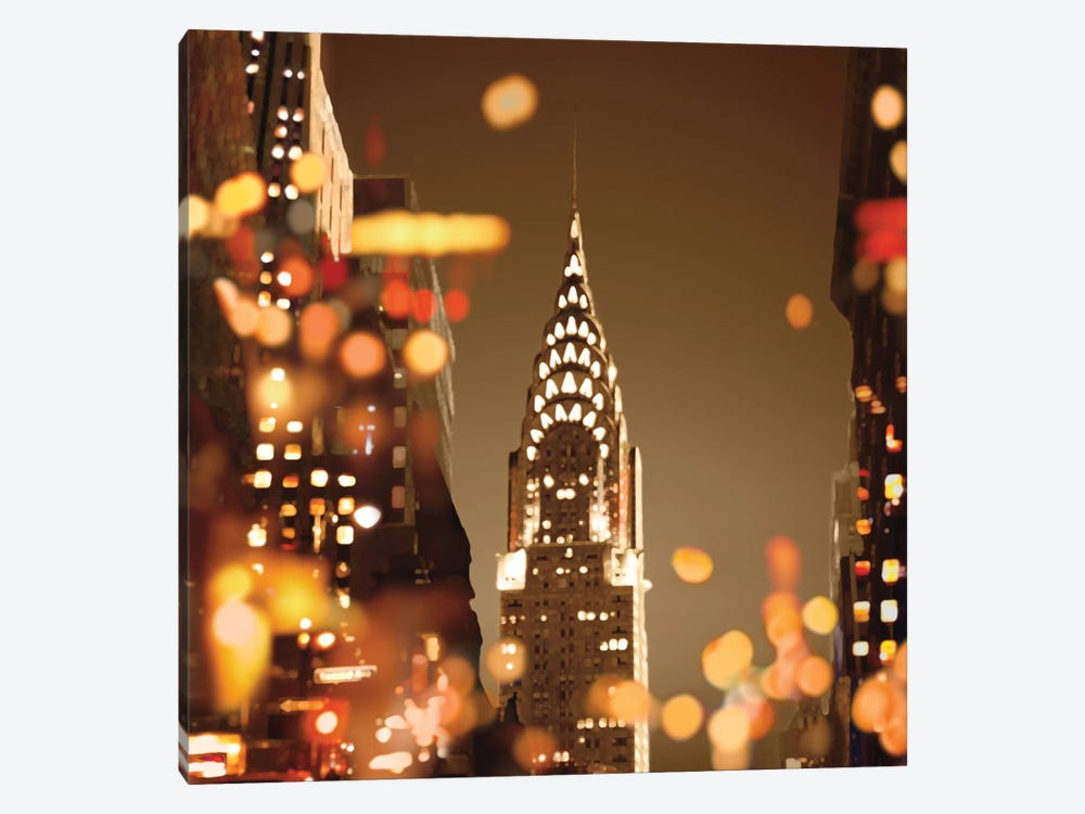 City Lights-New York 1-piece Canvas Artwork