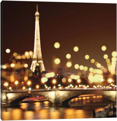 City Lights-Paris Canvas Art Print