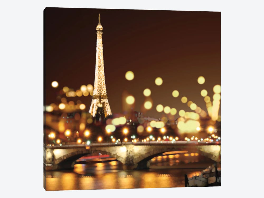 City Lights-Paris by Kate Carrigan 1-piece Canvas Art Print