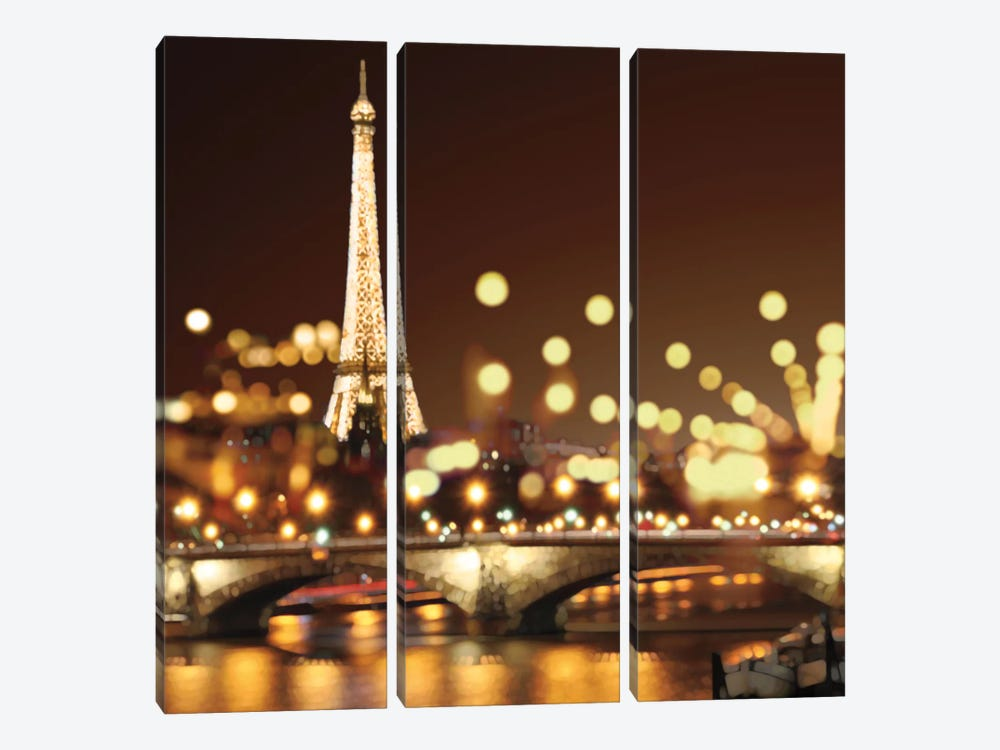City Lights-Paris by Kate Carrigan 3-piece Art Print