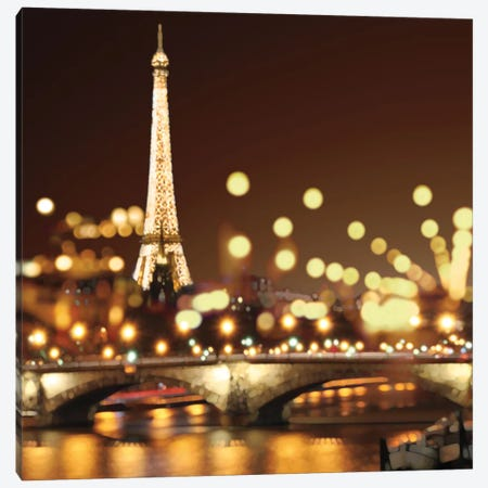 City Lights-Paris 3-Piece Canvas #KAC12} by Kate Carrigan Canvas Art Print