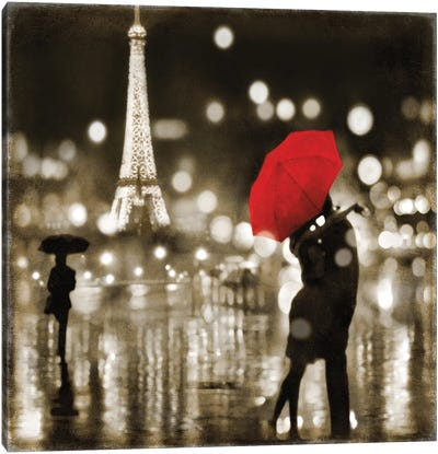 A Paris Kiss Canvas Art Print