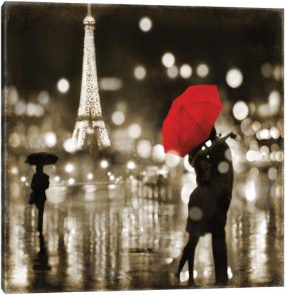 A Paris Kiss Canvas Art Print