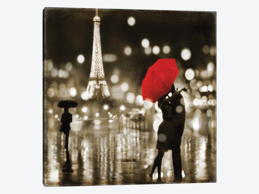 A Paris Kiss by Kate Carrigan 1-piece Art Print