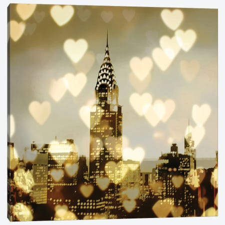 I Love NY I Canvas Print #KAC21} by Kate Carrigan Canvas Artwork