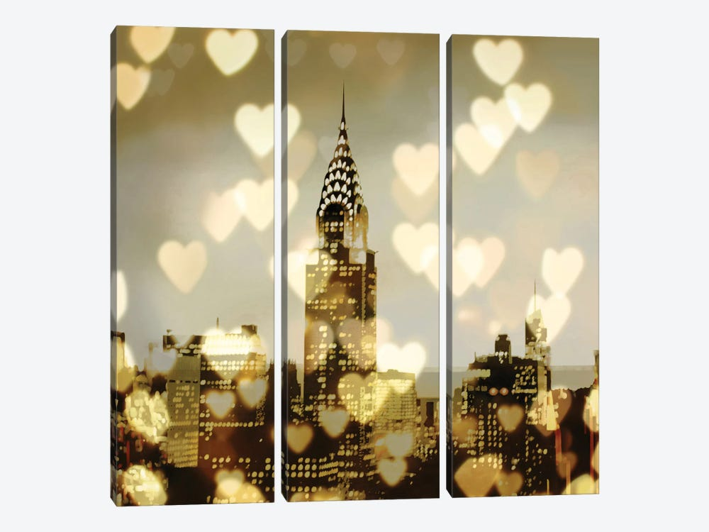 I Love NY I by Kate Carrigan 3-piece Canvas Art Print