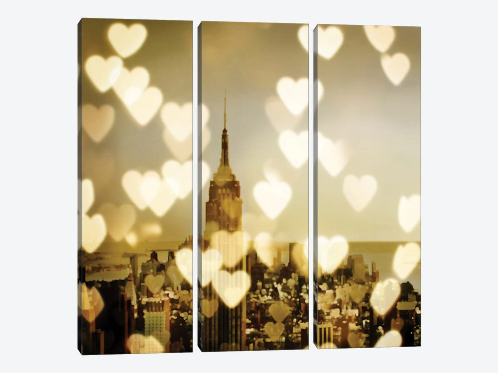 I Love NY II by Kate Carrigan 3-piece Canvas Artwork