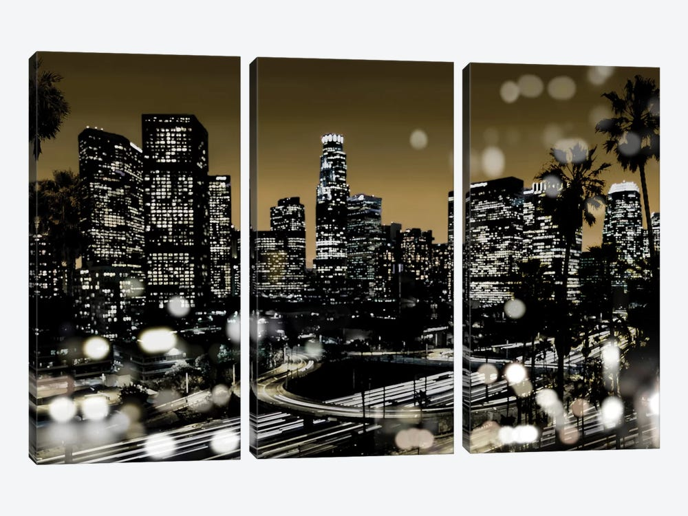 L.A. Nights I by Kate Carrigan 3-piece Canvas Art