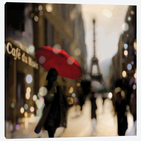 A Paris Stroll Canvas Print #KAC2} by Kate Carrigan Canvas Wall Art
