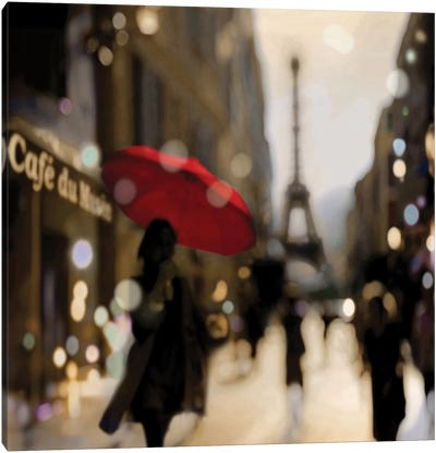 A Paris Stroll Canvas Art Print