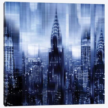 NYC - Reflections In Blue I Canvas Print #KAC34} by Kate Carrigan Canvas Artwork
