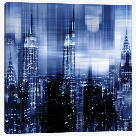 NYC - Reflections In Blue II Canvas Print #KAC35} by Kate Carrigan Canvas Art