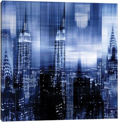 NYC - Reflections In Blue II Canvas Art Print