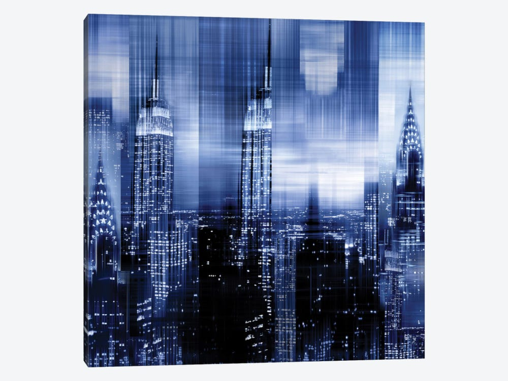 NYC - Reflections In Blue II by Kate Carrigan 1-piece Canvas Artwork