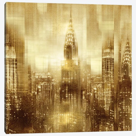 NYC - Reflections In Gold I Canvas Print #KAC36} by Kate Carrigan Canvas Wall Art