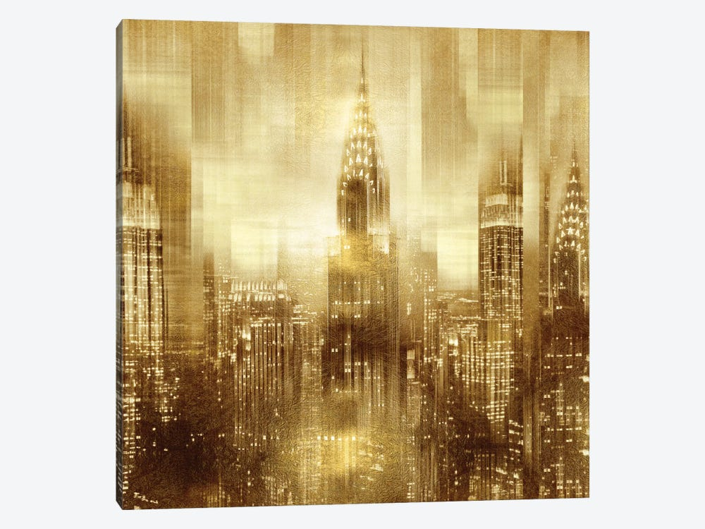 NYC - Reflections In Gold I by Kate Carrigan 1-piece Canvas Art Print