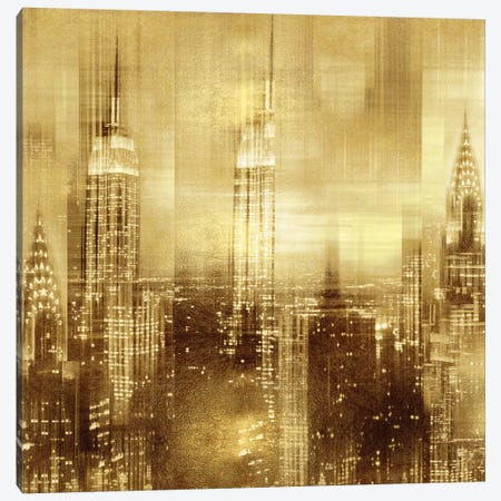 NYC - Reflections In Gold II Canvas Print #KAC37} by Kate Carrigan Canvas Artwork