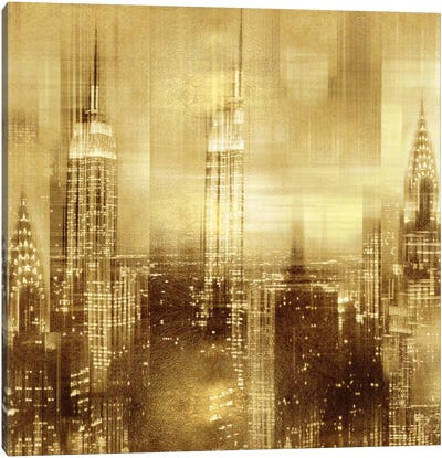 NYC - Reflections In Gold II Canvas Art Print