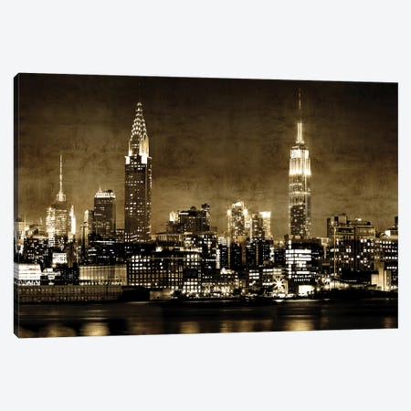 NYC In Sepia Canvas Print #KAC38} by Kate Carrigan Canvas Print