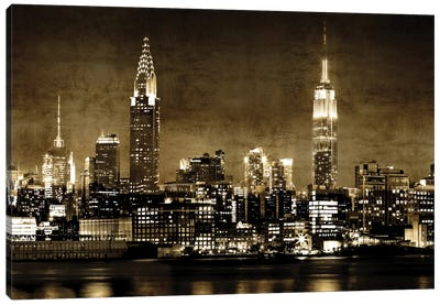 NYC In Sepia Canvas Art Print