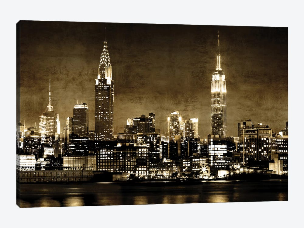 NYC In Sepia by Kate Carrigan 1-piece Canvas Print