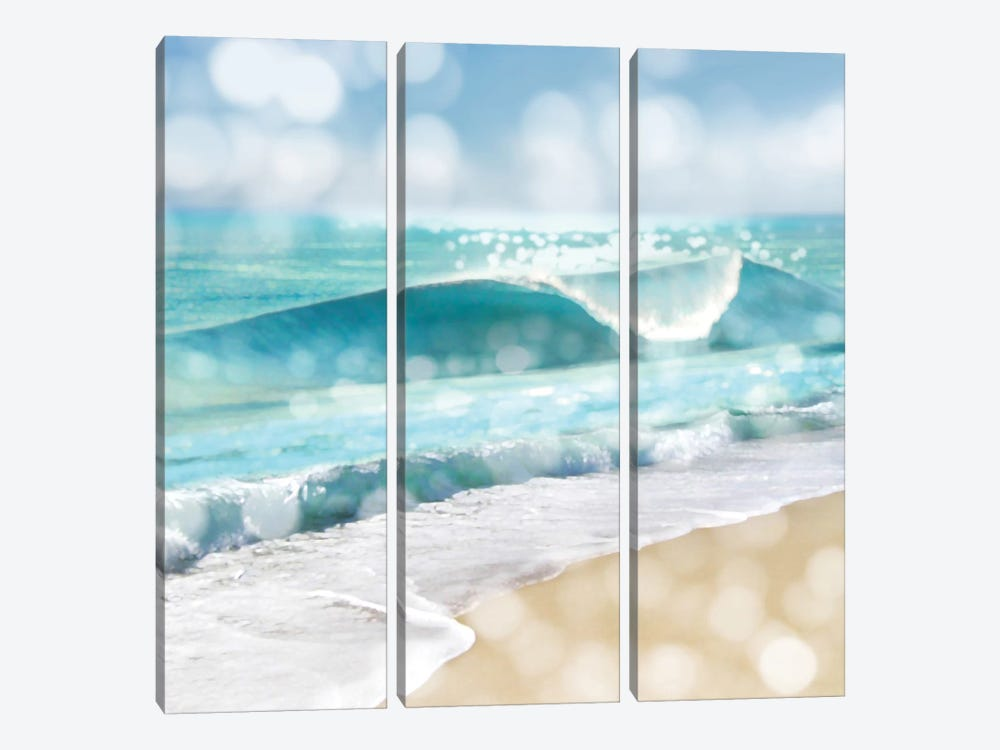 Ocean Reflections I by Kate Carrigan 3-piece Canvas Artwork